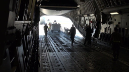 C-17 Globemaster Aircraft and cargo deploy to Nellis Air Force Base Footage