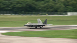 F-22 Raptor stealth fighter jet take off Footage