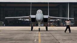 F-15 Eagle fighter jets take off Footage