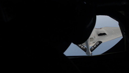 B2 Spirit stealth bomber Aerial Refuel Stock Video Footage