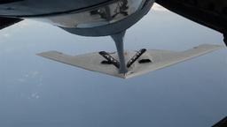 B2 Spirit stealth bomber Aerial Refuel Stock Video Footage