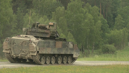 Bradley Fighting Vehicle during Combined Resolve II Gunnery Stock Video Footage