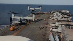 MV-22 Osprey tiltrotor helicopter Footage