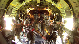 D-Day 70th Anniversary Airdrop Stock Video Footage