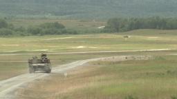 Tanks firing their guns Stock Video Footage