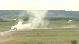 Tanks firing their guns Footage