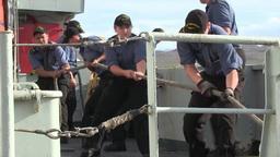 Royal Canadian Navy conducts Mediterranean Mooring Stock Video Footage