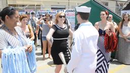 USS North Carolina Homecoming Stock Video Footage