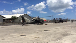 AH-64 Apache first Flight in Hawaii Footage