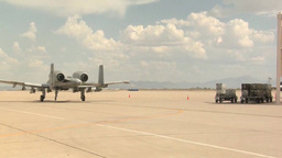 A-10 Thunderbolt fighter bomber jets Footage