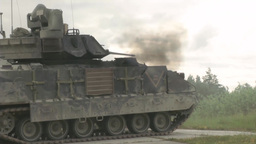 Tanks and Paladins Mechanized Live Fire Stock Video Footage