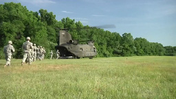 CH-47 Chinook helicopter operations Stock Video Footage