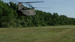CH-47 Chinook helicopter operations Footage