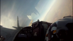 KC-130 Aircraft Refueling F/A-18 Jets Mid-air Cockpit Footage stock footage