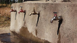 Faucet in ethiopia with dripping water Footage