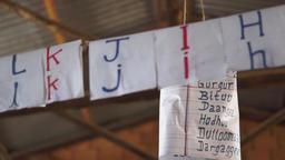 Ethiopian letters inside of school Image