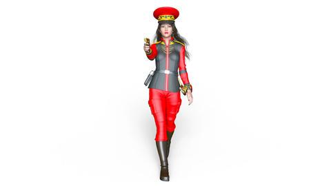 Police Woman Walk CG動画