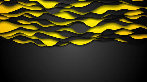 Orange and black contrast corporate waves motion design Animation