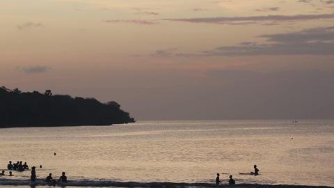 Jimbaran Beach Sunset Filmmaterial