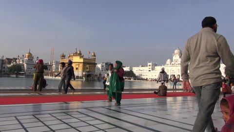 Sikh pilgrims in Golden Temple in December 16, 2012 , Amritsar, Punjab, India Footage