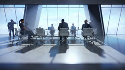Business team in conference room Animation