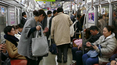 Commuters Tourists People Traveling On Train In Osaka Japan Asia ภาพวิดีโอ