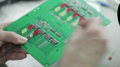 Manufacture of Motherboard Soldering Footage