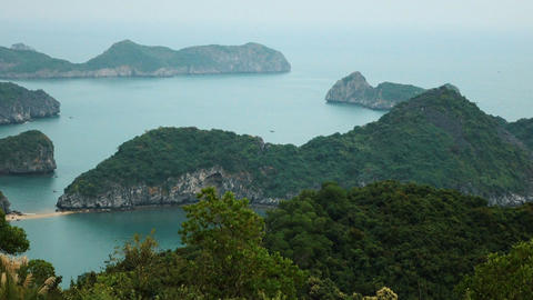 View of Halong Bay from the observation deck Footage