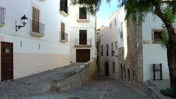 Europe Spain Balearic Ibiza Eivissa city 142 alleyway in Dalt Vila Footage