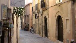 Europe Spain Balearic Ibiza Eivissa city 148 old alley in Dalt Vila Footage