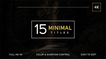 15 Minimal Titles After Effects Project
