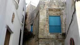 Europe Spain Balearic Ibiza Eivissa city 156 old houses in Dalt Vila Footage