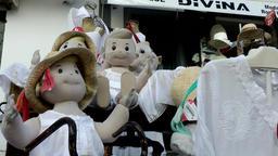 Europe Spain Balearic Ibiza Eivissa city 168 funny dress dummies Footage