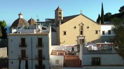 Europe Spain Balearic Ibiza Eivissa city 186 cathedral Esglesia de Sant Domingo Footage