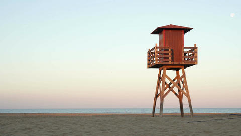 Lifeguard Tower On The Beach Footage
