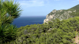 Europe Spain Balearic Ibiza coves and landscapes 197 landscape & sea Footage