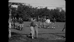 USA 1930s: Tackle That Dummy! College Football Practice Footage