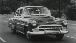 USA 1950s: Chevrolet Automobile Leisurely Family Drive Footage