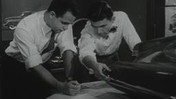 USA 1950s: Automotive Design Engineers at Work Footage