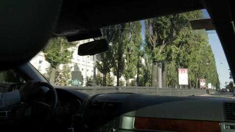 Fast Driving a Car in The City Archivo