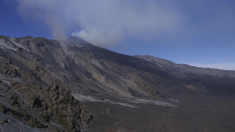 Time-lapse Of Mount Etna Erupting In Sicily Active Volcano Eruption Footage