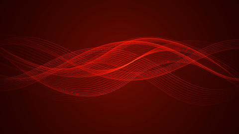 Abstract Looped Background | Red Edition | Wavy Lines ภาพเคลื่อนไหว