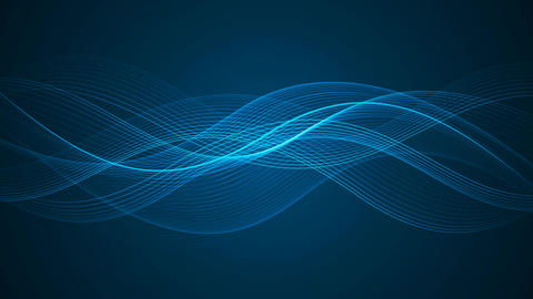 Abstract Looped Background | Blue Edition | Wavy Lines Animation