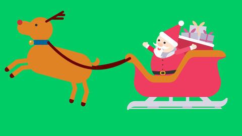 聖誕老公公與麋鹿