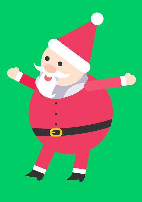 聖誕老公公揮揮手 CG動画素材