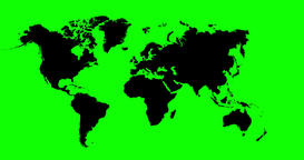 World Map 4K Animation With Green Alpha Channel Animation
