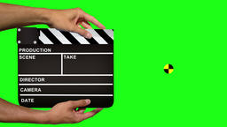 Clapper Board With Tracking Marker - Green Screen CG動画素材
