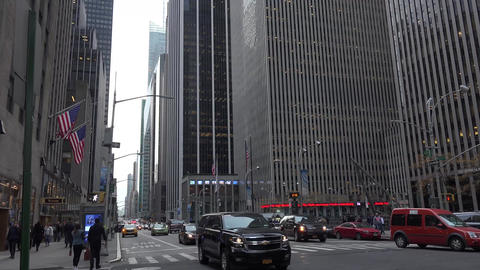 NEW YORK Vehicular and pedestrian traffic move through Times Square at the inter Footage
