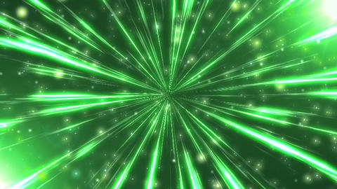 Radiation background CG ray green Animation