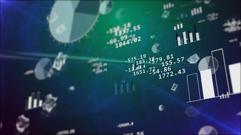 Business background with stock market elements Animation